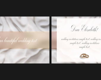 Downloadable PSD - Printable Wedding Invitation Template