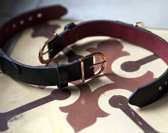 Leather wrist cuffs