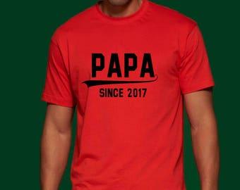 Papa Shirt Dad Shirt Father Shirt Daddy Shirt Papa Since Shirt 2017 Husband T Shirt Father Tshirt Papa Tee Shirt Husband Gift Dad Gift Top