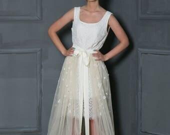 Overskirt for wedding dress, over skirt, overskirt for bridal dress, transperent overskirt, blush skirt, blush overskirt, transperent skirt