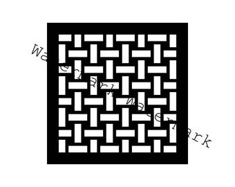 Basketweave Stencil SVG and Studio 3 Cut File for Brother Silhouette Cricut Designs Files Pattern Cutout Stencils Pattern Mosaic Quilt Best