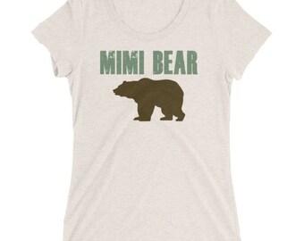 Mimi bear shirt etsy mimi bear ladies short sleeve t shirt gift for grandparent mimi shirt publicscrutiny Image collections