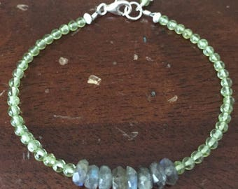 Peridot & Labradorite Layering Bracelet