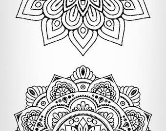 SALE! Mandala clipart set - mandala circles SVG file -  instant download - Files for Cricut and Silhouette - svg, eps, dxf, png - SAC118