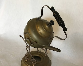 Antique Tilting Teapot Kettle with Stand