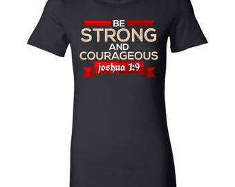Inspirational Christian Faith Bible Verse Stamped Bella Shirt