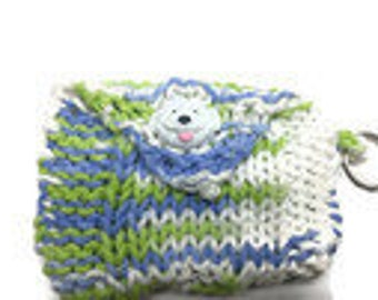 Knitted Dog Poop Bag Holder, Dog Poop Bag Holder, Poop Bag Holder, Dog,