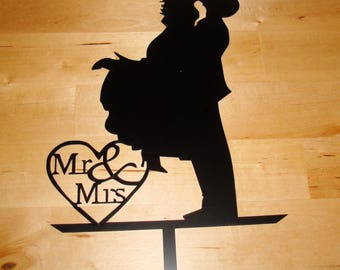cake topper Mr & Mrs 02250 parts to assemble wedding anniversary ceremony