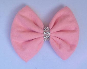 Pink Bow - Felt