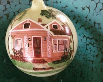 Custom Painted House Ornament, Personalized House Ornament, Christmas Ornament