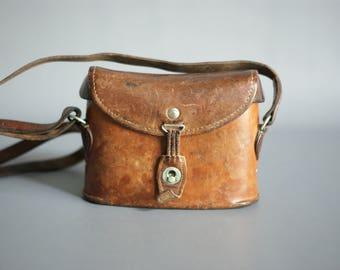 SWISS ARMY 1940 Binoculars Bag, WW2 Swiss Military Binoculars Bag, Swiss Army Leather Binoculars Case, Made in Switzerland