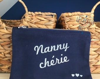 "Grandmothers day clutch/Kit ""Nanny maminou, Grandma, Darling..."""