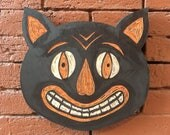 Clown Cat Wood Carving...