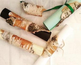 Birch Bark Menu Holder