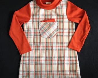 Vintage Girls Plaid Dress 60's