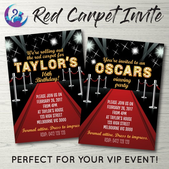 Red carpet event invitation red carpet invitation vip party like this item stopboris Image collections