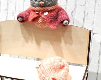 The author knitted bear TODDLER BEJBIK