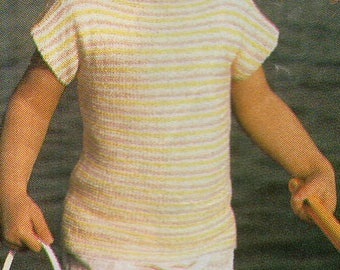 Child's Top, Knitted Pattern, Instant Download.