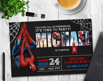 Spiderman Invitation, Spiderman Birthday Invitation, Spiderman, Spiderman Printable, Spiderman Card, Spiderman Invite Party, Digital
