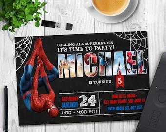 Spiderman Invitation, Spiderman Birthday Invitation, Spiderman, Spiderman Printable, Spiderman Card, Spiderman Invite Party, Digital