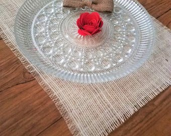 Ivory Rustic Placemats, Ivory Burlap Placemats, Ivory Farmhouse Placemats, Cream Burlap Place Mats, Ivory Rustic Table Decor, Country Chic