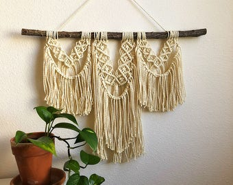 Large Layered Macrame Wall Hanging, Woven Wall Hanging, Boho Home Woven Tapestry, Hippie Wall Hanging Tapestry