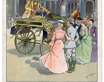 Irish Humour! Comic postcard posted 1904.