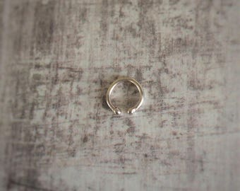 Non Piercing Nipple Ring - Sterling Silver Nipple Ring - Set Of Two - Body Jewellery