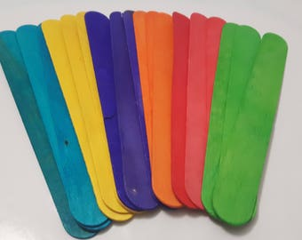 "Jumbo 8"" Craft Sticks - Multicolour"
