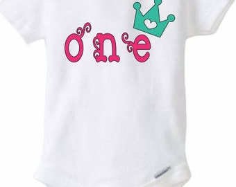 First Birthday Outfit - Onesies Custom/Personalize for baby girl / baby boy