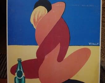Perrier poster, vintage