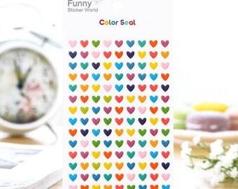 Tiny Heart Stickers