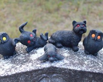 Haunted Animal Figurines - lot of 5 - Very Creepy