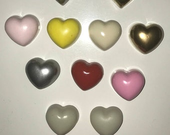 Hearts of all colors, magnets, magnets for fridge or magnetic Board