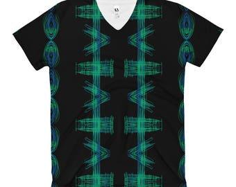 DJ Scratch Women's V-Neck T-Shirt
