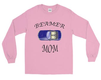 Beamer Mom distressed Unisex Spartees Long Sleeve T-Shirt