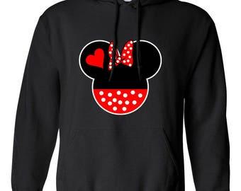 Minnie Mouse Disney Couple Hoodies Hooded Designed Sweatshirt Unisex for Men and Women