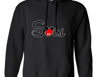 Soul Mate Soul Part Couple Gift Design Clothing Adult Unisex Hoodie Hooded Sweatshirt Best Seller Designed Hoodies for Women and Men