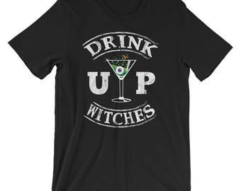 Drink Up Witches Shirt Funny Halloween Witch UNISEX T-Shirt Gift