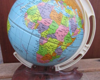 Globe Earth world globe vintage 60s