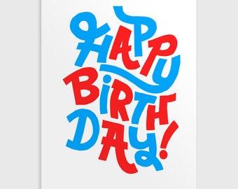 A6 Happy Birthday Greetings Card