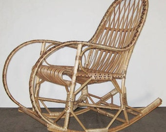 wicker rocking chair willow chair handmade chair wicker rocker vintage rocking chair