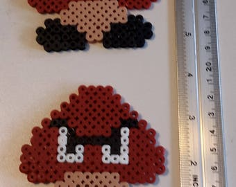Goombas made of hama beads