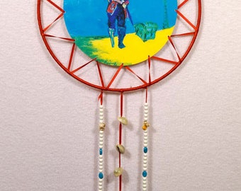 Red Leather Pirate Dreamcatcher