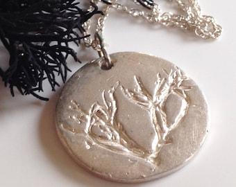 Silver seaweed pendant