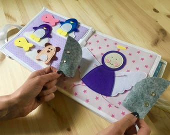 Quiet Book Pattern Toddler Gift - Felt Quiet Book - Quiet Book for Toddler - Busy Book - Activity Book