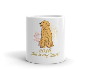 Dog Mug - Dog Mug 2018 - Golden Retriever Mug - Year of the Dog Mug