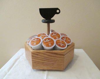K-cup Holder - Wood K-cup Holder - Wood K-cup Stand - Coffee Pod Holder