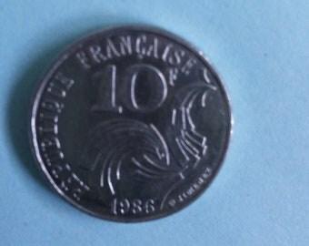 10 francs 1986