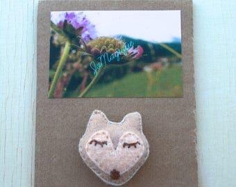 Gift daughter Brown felt Fox brooch